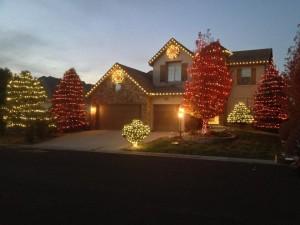 Christmas light installation